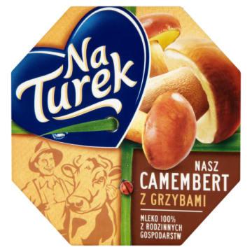Ser pleśniowy z grzybami leśnymi – Naturek. Dodatek do sałatek i przekąsek w dużą ilością wapnia.