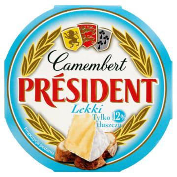 President - Ser Camembert o zawartości tłuszczu 12%. Wysokiej jakości, tradycyjnie francuski ser.