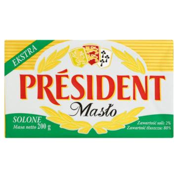 President - Masło solone 200 g. Jest idealne na kanapki i do jajecznicy.