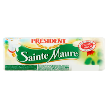 Ser z koziego mleka Sainte Maure - President pokryty jest naturalną pleśnią.