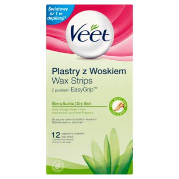 Plastry depilacyjne do skóry suchej 12 szt. - Veet szybko pomogą usunąć zbędne owłosienie.