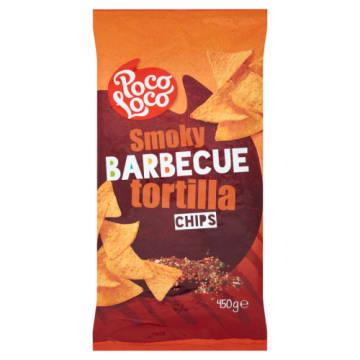 Tortilla chips barbecue-Poco Loco. Chrupiące chipsy o intensywnym smaku.