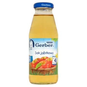 Gerber - Sok jabłkowy po 4 miesiącu. 100 % sok dla niemowląt wzbogacony witaminą C.