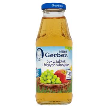 GERBER Sok z jabłek i białych winogron 300ml - źródło witamin dla Twojego malucha
