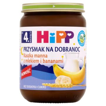 Kaszka manna z mlekiem i bananami - Hipp. Pełnowartościowa kaszka doskonała na wieczorny posiłek.