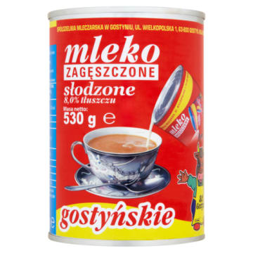 Mleko zagęszczone słodzone w puszce - SM Gostyń