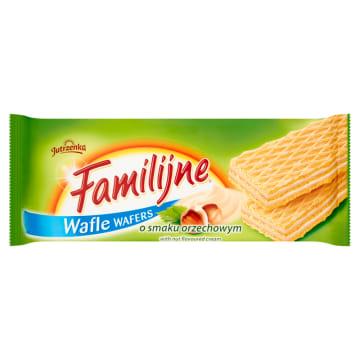 Wafle o smaku orzechowym 180g - Jutrzenka Familijne. Genialna słodka przekąska.
