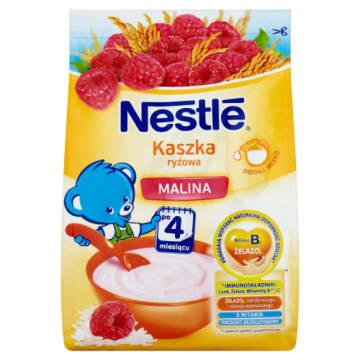 Nestle – Kaszka ryżowa z malinami dla dzieci po 4. miesiącu jest delikatnym i pożywnym posiłkiem.