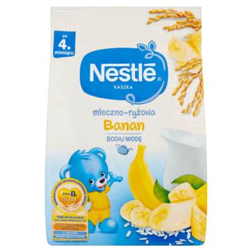 Nestle Kaszka mleczno-ryżowa z bananami po 4 miesiącu to pełnowartościowa kaszka dla niemowląt.