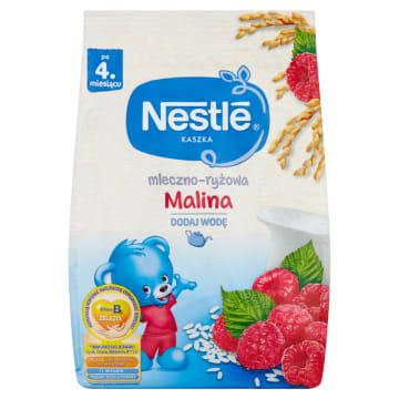 Nestle-Kaszka mleczno-ryżowa z maliną od 4 miesiąca życia.