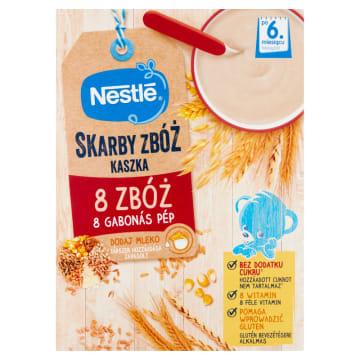 Kaszka 8 zbóż Bifidus po 9. miesiącu Nestle uzupełnia dietę dzieci przed ukończeniem 1. roku życia.
