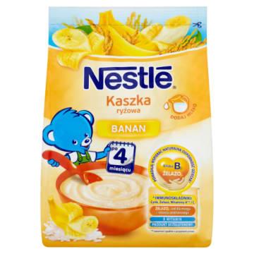 Nestlé - kaszka ryżowa z bananami po 4m. życia. Delikatny, bezglutenowy posiłek.