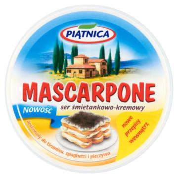 Mascarpone - Piątnica. Ser śmietankowo-kremowy z aksamitną, gładką konsystencją.