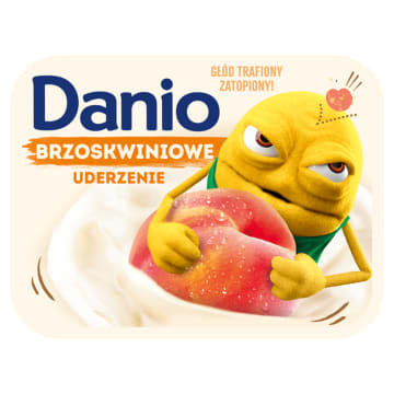 Danone - Serek brzoskwiniowy. Lekka przekąska w ciągu dnia.