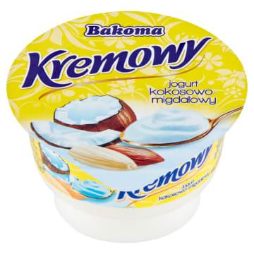 Bakoma Kremowy Jogurt kokosowo-migdałowy to pożywną i puszysta przekąska.