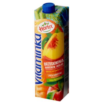 Hortex Vitaminka-Sok marchwiowo-jabłkowo-brzoskwiniowy. Zdrowy smak i orzeźwienie.