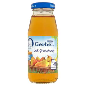 Gerber - Sok gruszkowy - Po 4 miesiącu 175ml. Gwarantuje pyszny smak.