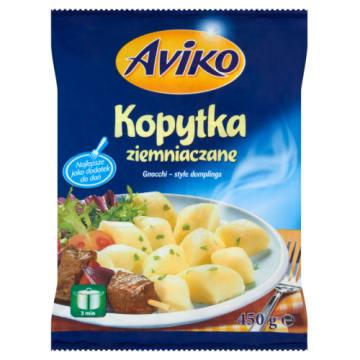Kopytka ziemniaczane mrożone - Aviko. Szybki w przygotowaniu dodatek do dań kuchni polskiej.