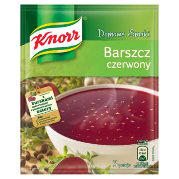Knorr Domowe Smaki - Barszcz czerwony. Domowa zupa w najlepszym wydaniu.