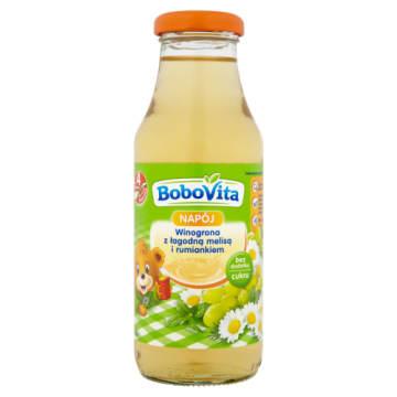 Bobovita - Napój winogronowy z melisą i rumiankiem po 4m. to pyszny dodatek do diety.