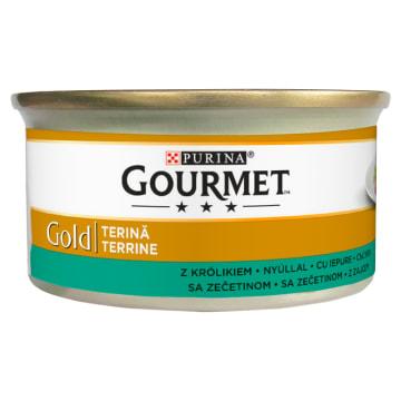 Karma dla kotów - Królik w pasztecie Gourmet Gold to pełnowartościowy, zbilansowany pokarm.