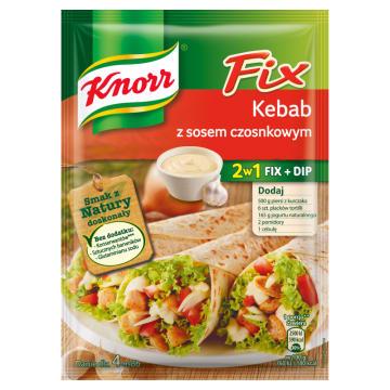 Kebab z sosem czosnkowym – Knorr Fix. Zaskocz swoją rodzinę niezwykłym obiadem