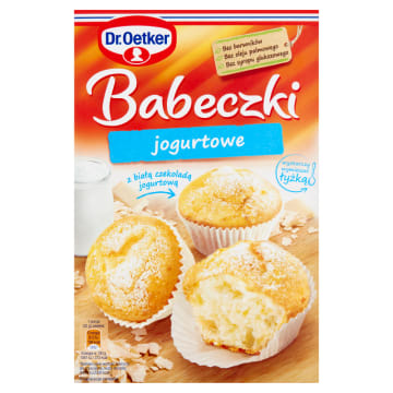 Babeczki jogurtowe - Dr. Oetker. Mieszanka do szybkiego i łatwego przygotowania pysznego wypieku.