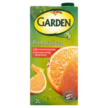 Napój pomarańczowy - Garden. Dwulitrowy, owocowy napój pasteryzowany.