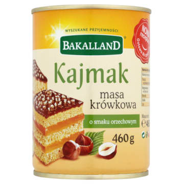 Bakalland - Orzechowa masa krówkowa. Popularny składnik deserów w pysznej wersji.