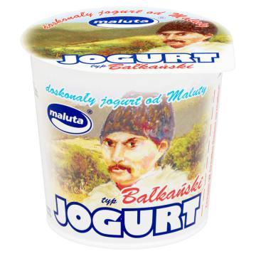 Jogurt bałkański - Maluta. Posiada cechę wspólną z innymi produktami z linii - odpowiednią gęstość.