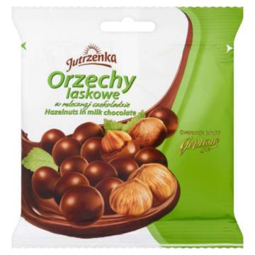 Orzechy w czekoladzie mlecznej - Jutrzenka. Chrupiący smakołyk z najlepszych składników.