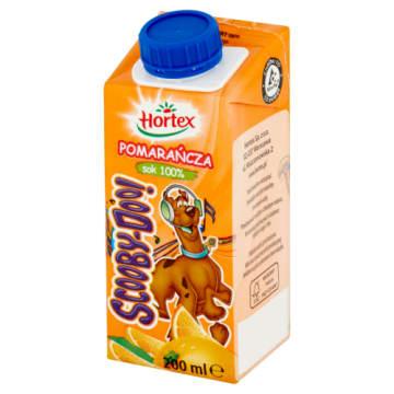Hortex Scooby Doo - Sok pomarańczowy 100%. Naturalny smak bez cukru.