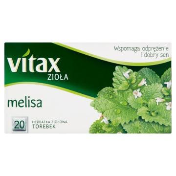 Herbata ziołowa z melisy - Vitax. Powstała z dokładnie wyselekcjonowanych ziół.