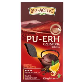 Herbata czerwona Pu-Erh - Big-Active. Herbata aromatyzowana cytryną.