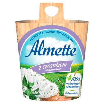 Hochland Almette - Serek twarogowy z czosnkiem niedźwiedzim. Kremowy twarożek o wyjątkowym smaku.