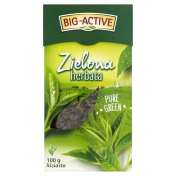 Herbata zielona liściasta Gun Powder – Big-Active. Zawinięte listki przypominają proch strzelniczy.