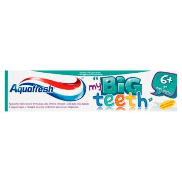 Pasta do zębów dla dzieci pow.6lat - Aquafresh. Doskonała ochrona przed próchnicą.