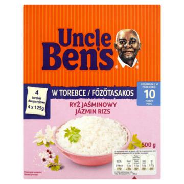 Ryż Jaśminowy - Uncle Ben's. Odmiana ryżu pełnoziarnistego doskonała do kuchni azjatyckiej.