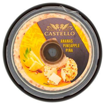 Serek kremowy z ananasem produkowany jest ze świeżego mleka pasteryzowanego. Udekorowany ananasem.