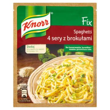 Fix Spaghetti 4 sery z brokułami - Knorr