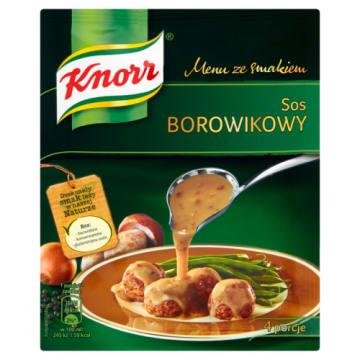 Knorr - Menu ze smakiem Sos borowikowy. Pyszne uzupełnienie wielu dań.