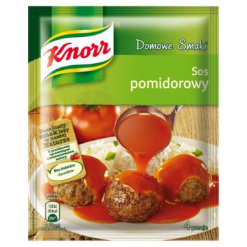 KNORR Domowe Smaki Sos pomidorowy 30g - czerwona barwa i wyjątkowo dobry smak.