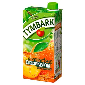 Tymbark - Napój pomarańczowo - brzoskwiniowy. Orzeźwiający sok bogaty w składniki odżywcze.
