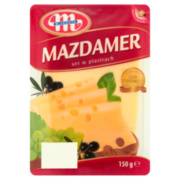 Ser Mazdamer w plastrach - Mlekovita. Półtwardy ser podpuszczkowy w najlepszym wydaniu.