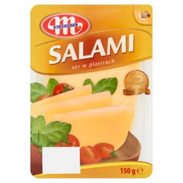 Mlekovita - Ser Salami w plastrach 150g. Doskonały, delikatny ser niezbędny w każdej kuchni.