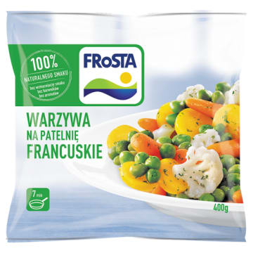 Warzywa na patelnię - Frosta. Francuska kompozycja smaków i gwarancja jakości.