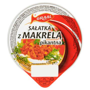 GRAAL Pikantna sałatka z makreli 130g -świetnie smakuje na kanapce lub jako przekąska.