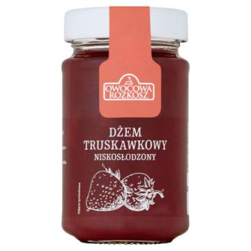 Dżem truskawkowy Owocowa Rozkosz jest niskosłodzony i przygotowywany według stałej receptury.