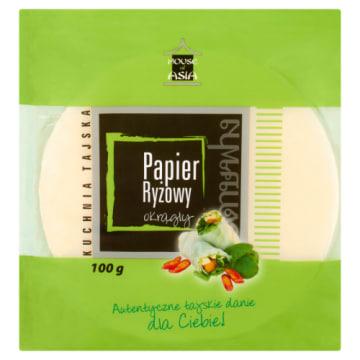 Okrągły papier ryżowy - House of Asia. Papier ryżowy doskonale znany miłośnikom kuchni azjatyckiej.