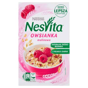 Nestlé NesVita - Płatki owsiane z mlekiem i malinami. Zdrowe i pożywne śniadanie w kilka chwil.
